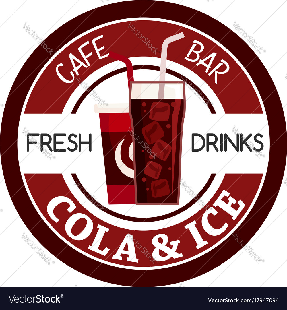 Juice soda drink fast food cafe bar icon vector image