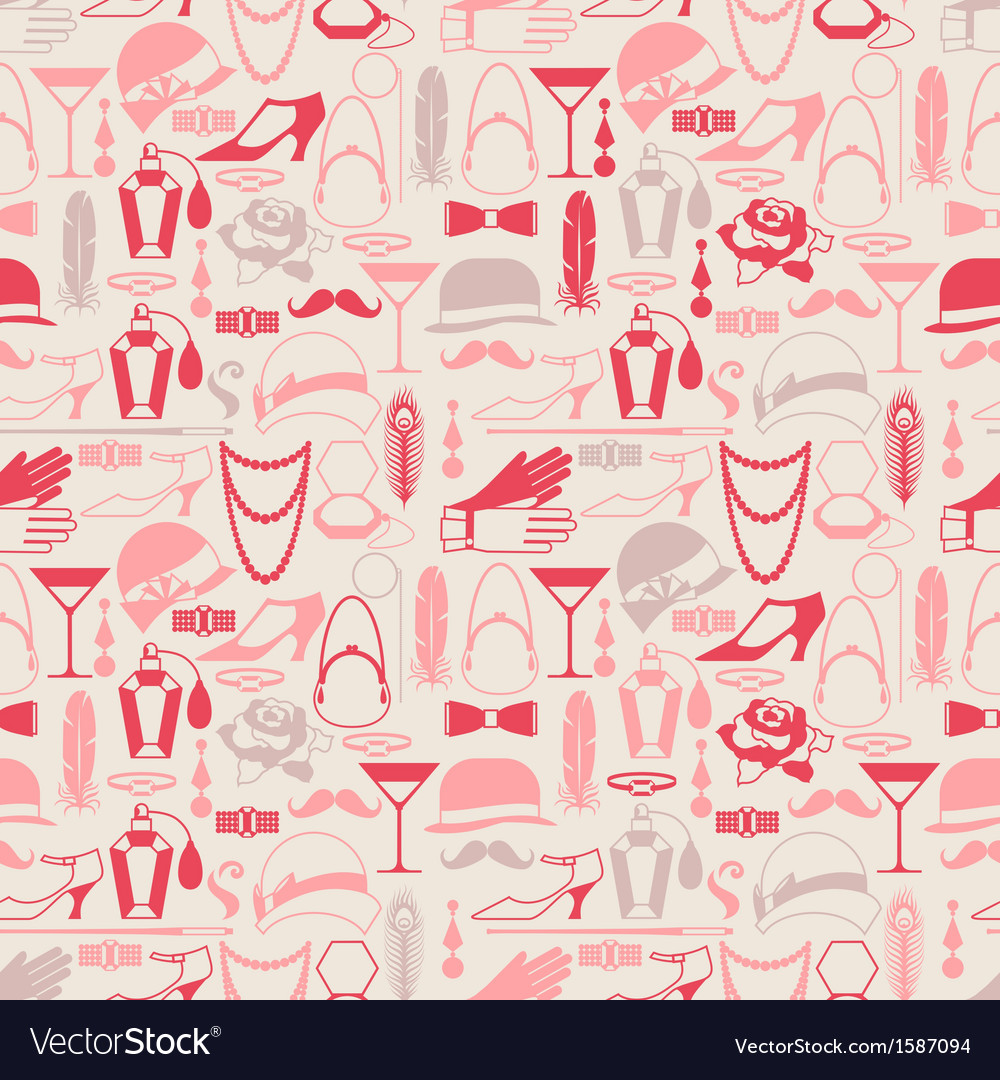 Retro of 1920s style seamless pattern vector image