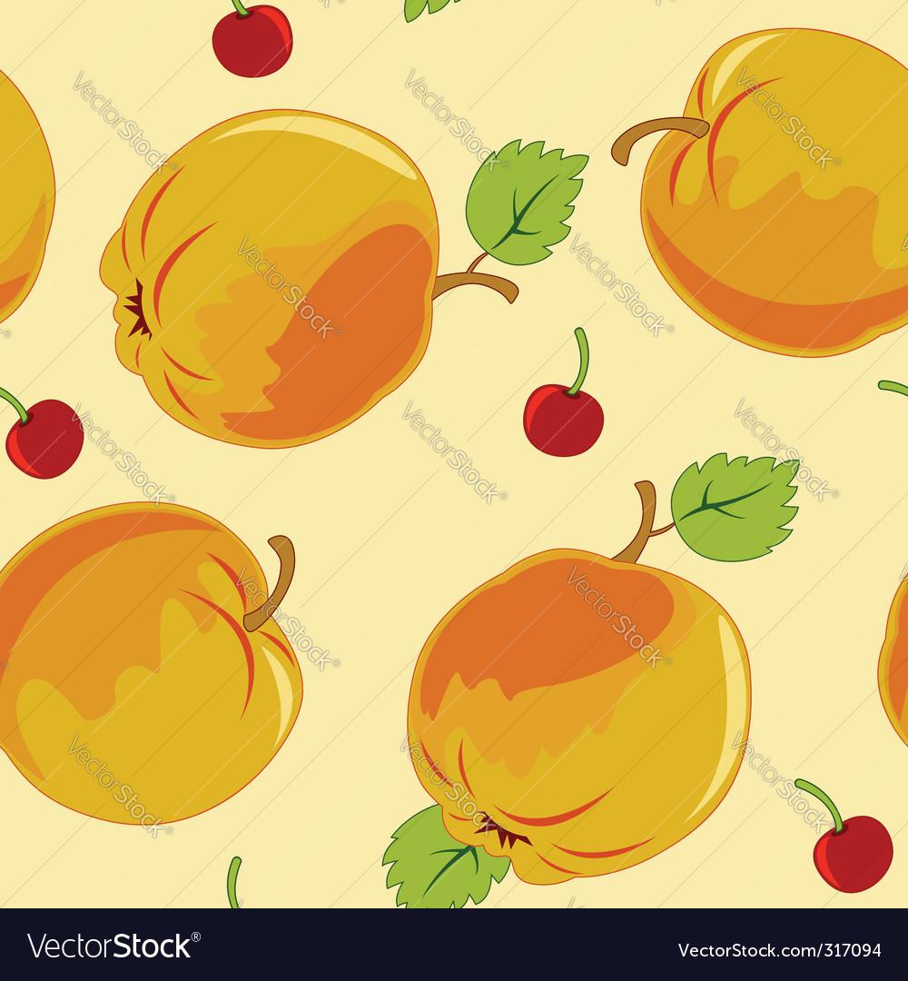 Seamless apple vector image