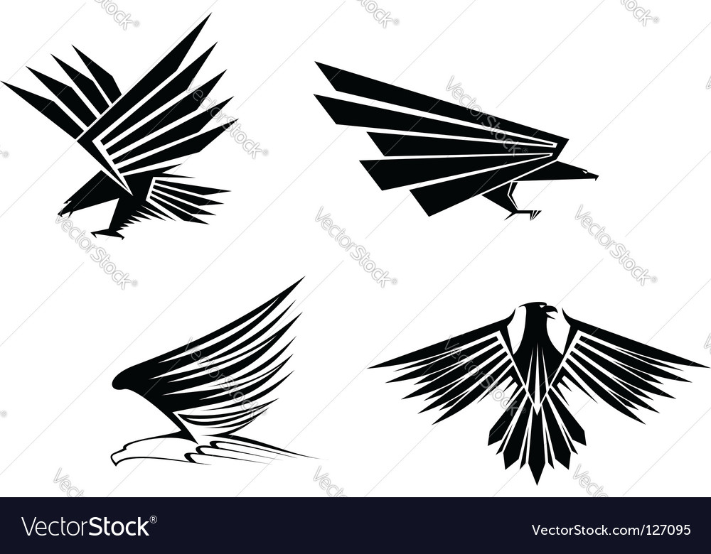 Eagle tattoos vector image