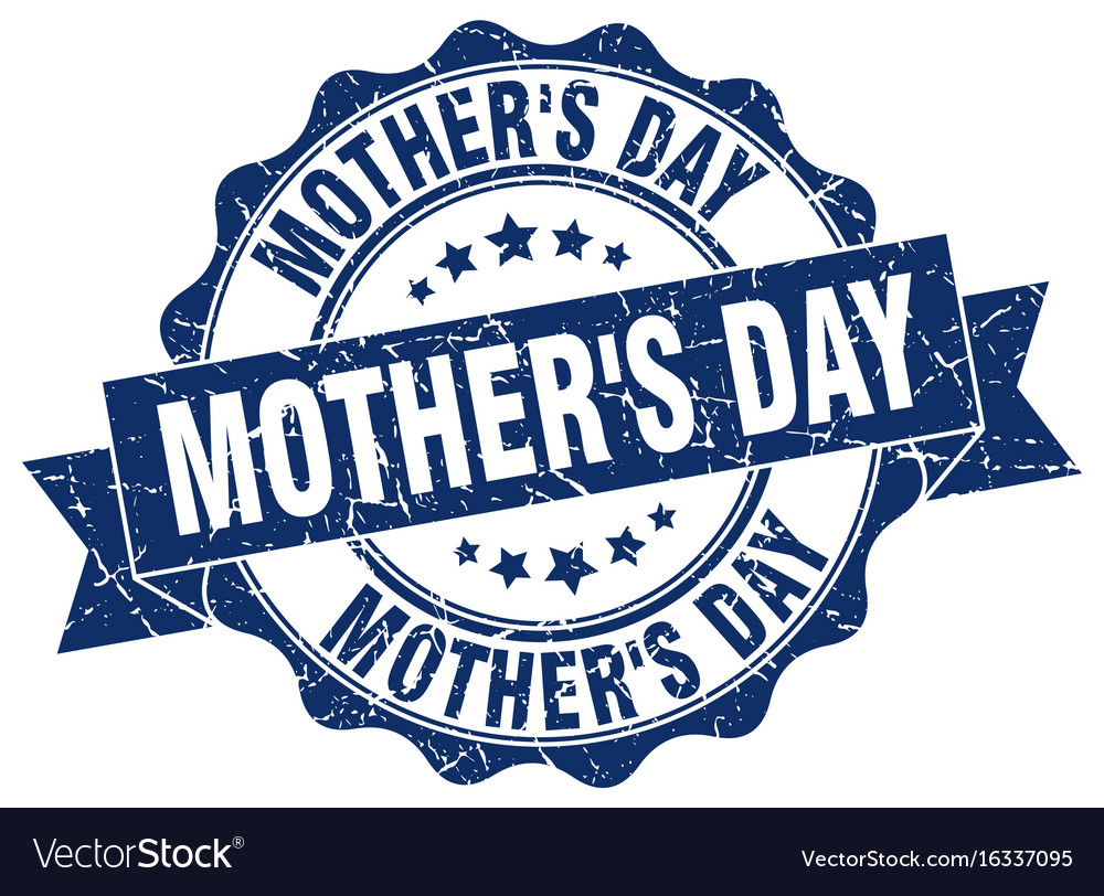 Mothers day stamp sign seal vector image