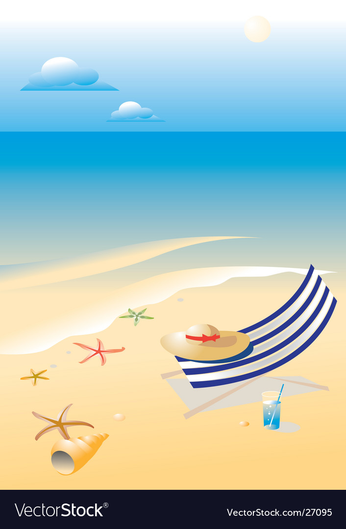 Wonderful shining beach vector image