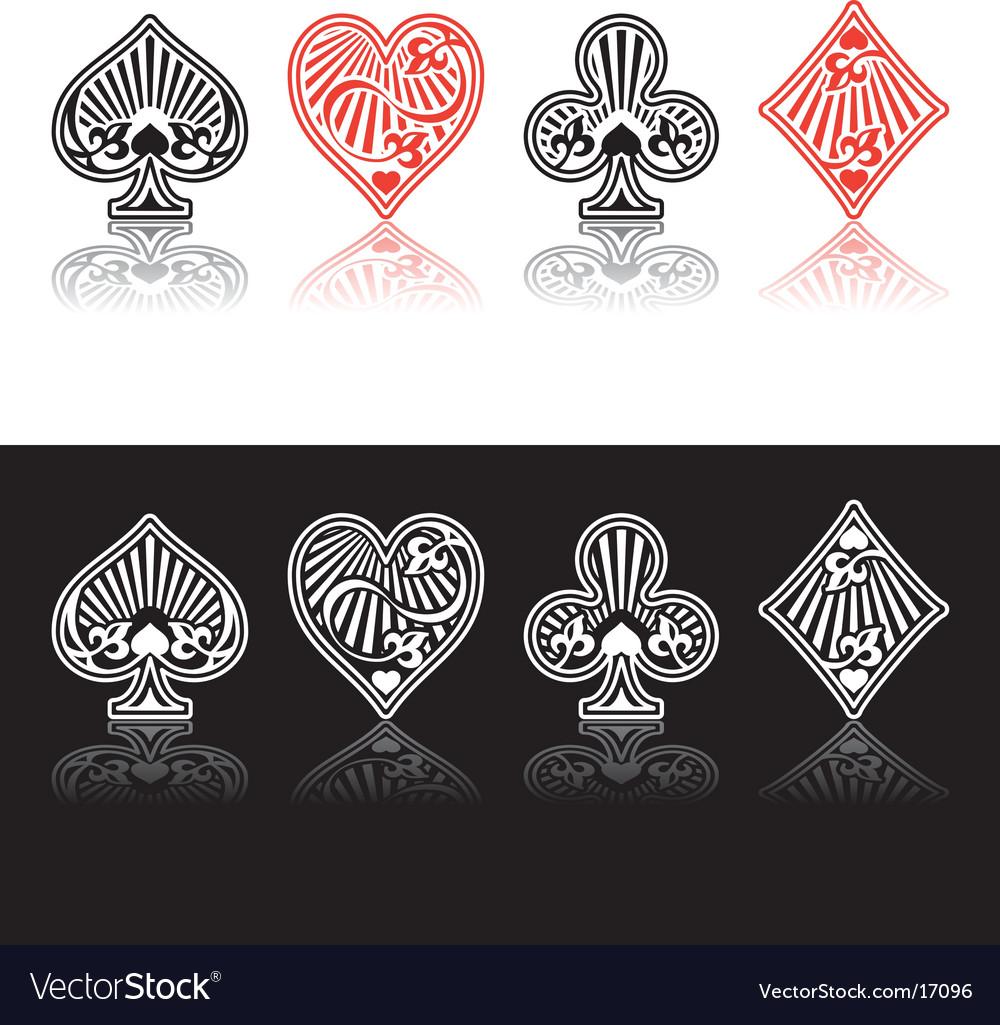 Card symbols Vector Image