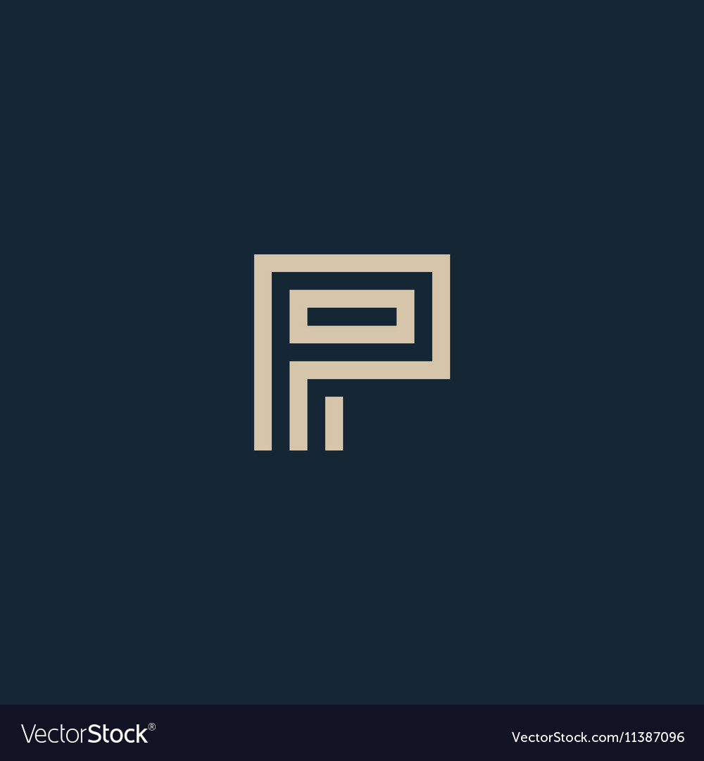 Unusual geometric letter P Architecture vector image