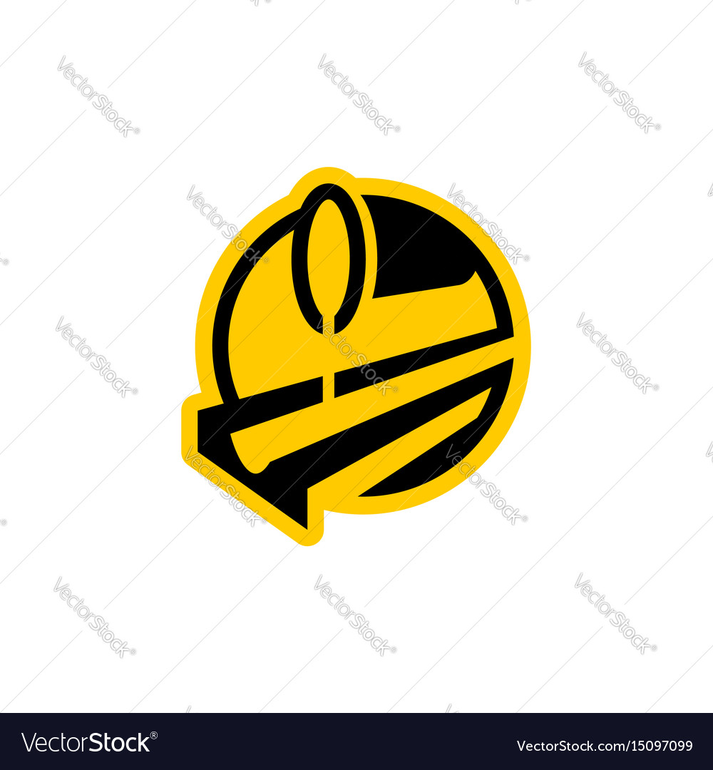 Metallurgy logo steel-furnace symbol melting vector image
