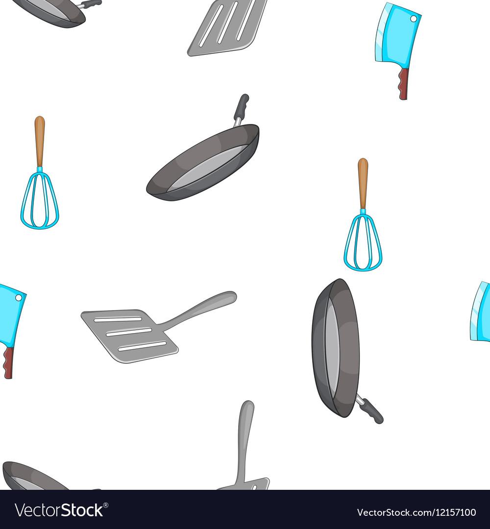 Kitchen pattern cartoon style vector image