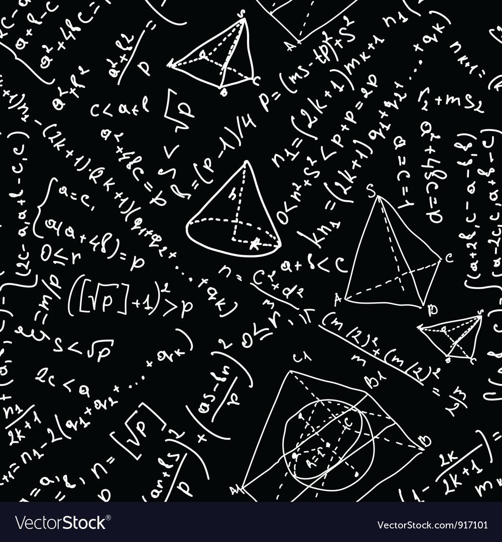 Maths formulas seamless vector image
