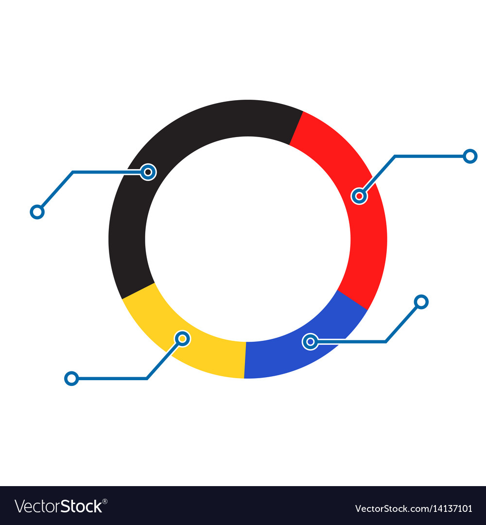 Pie color chart royalty free vector image vectorstock pie color chart vector image nvjuhfo Images