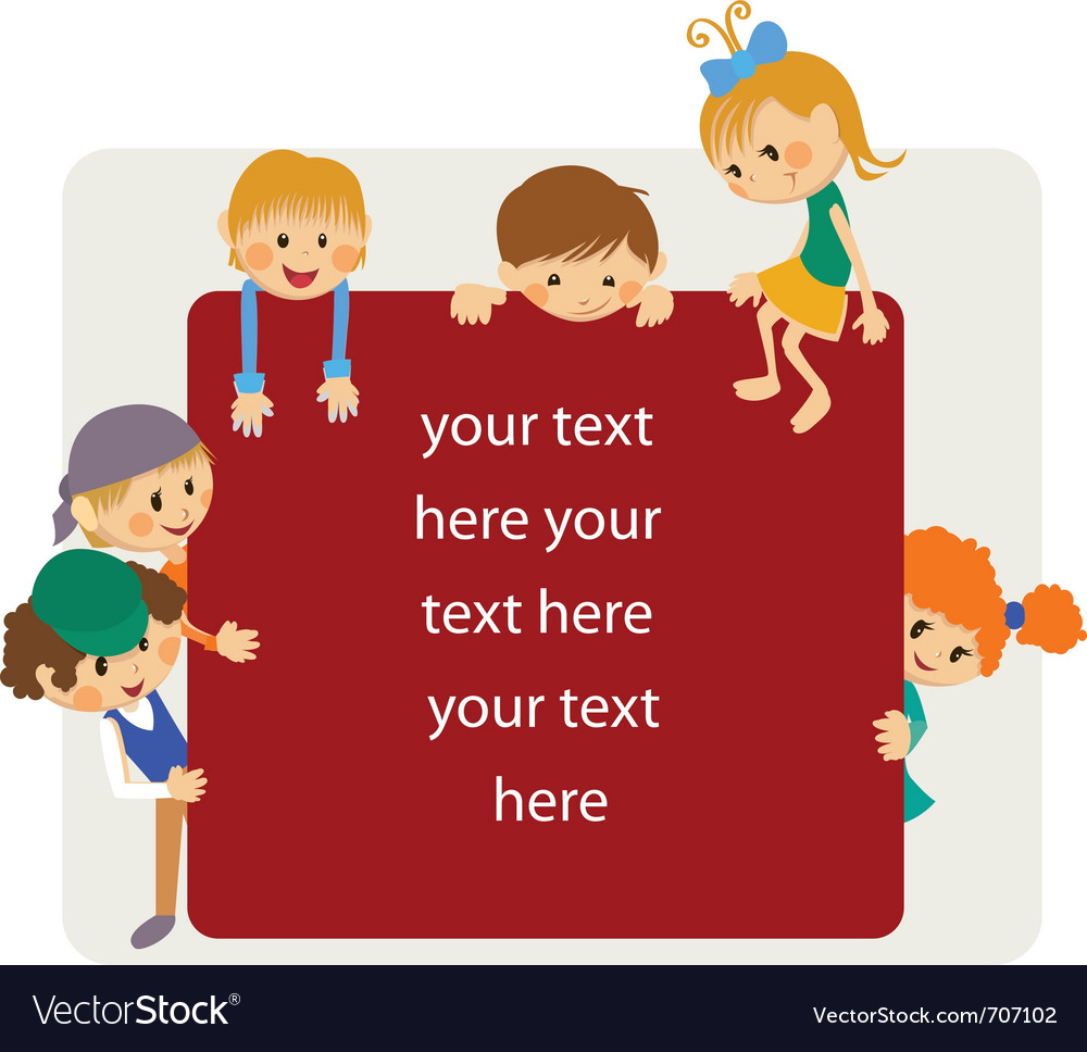 Kids frame notice vector image