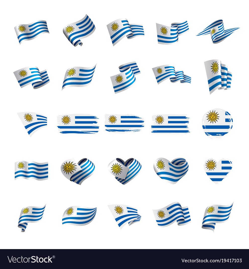 Uruguay Flag Royalty Free Vector Image VectorStock - Uruguay flag