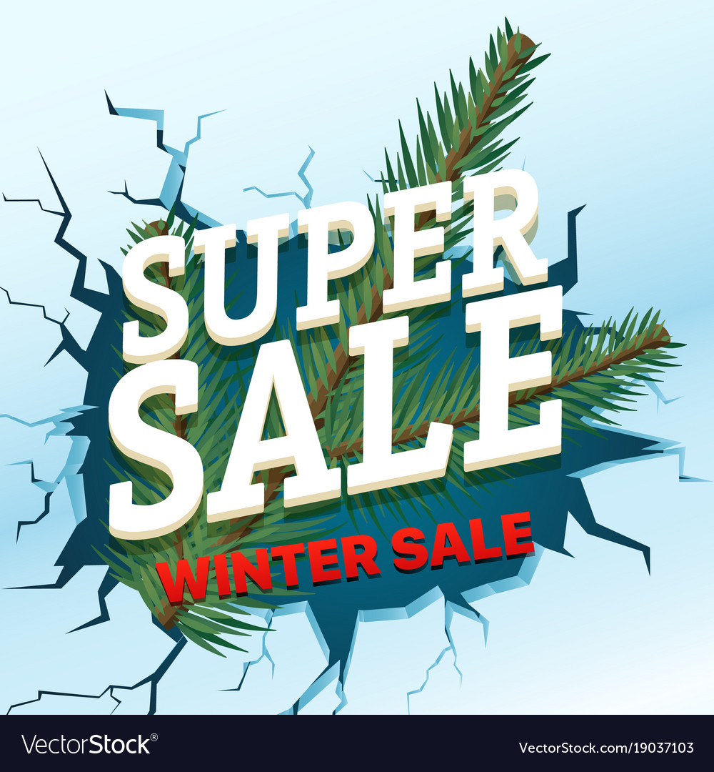Winter sale concept shopping special offer vector image