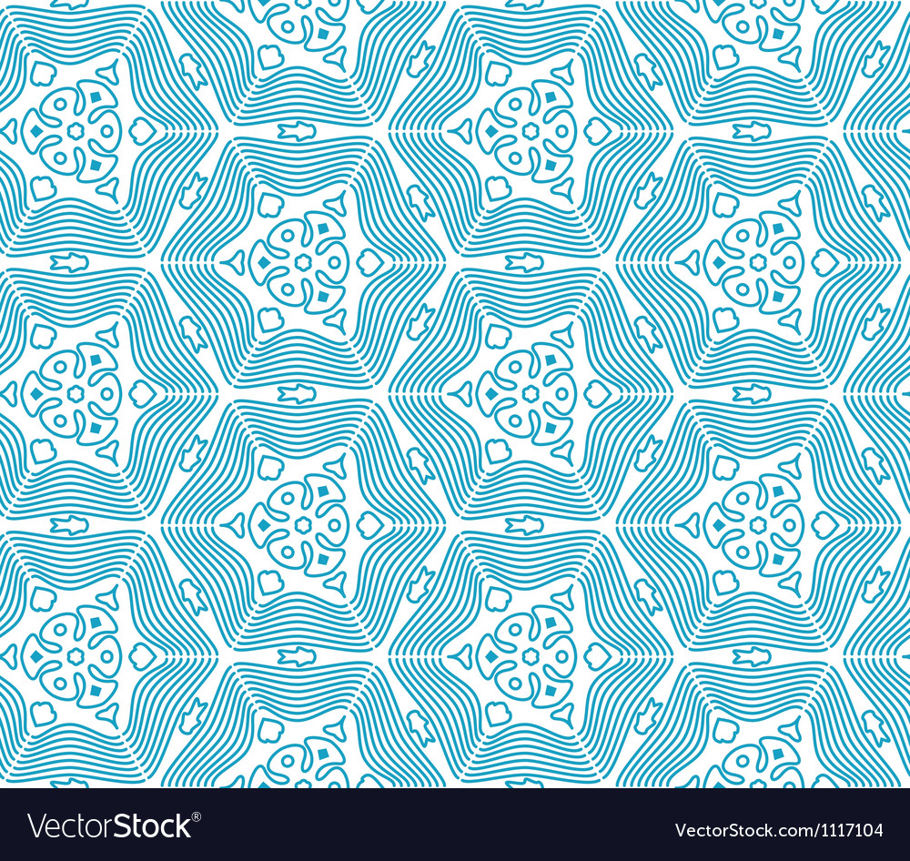 Blue Seamless Monochrome Pattern vector image