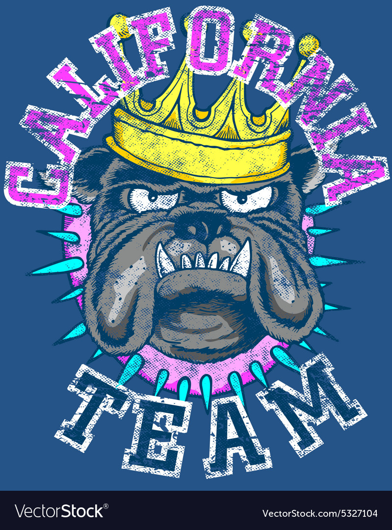 KING DOG TEAM vector image