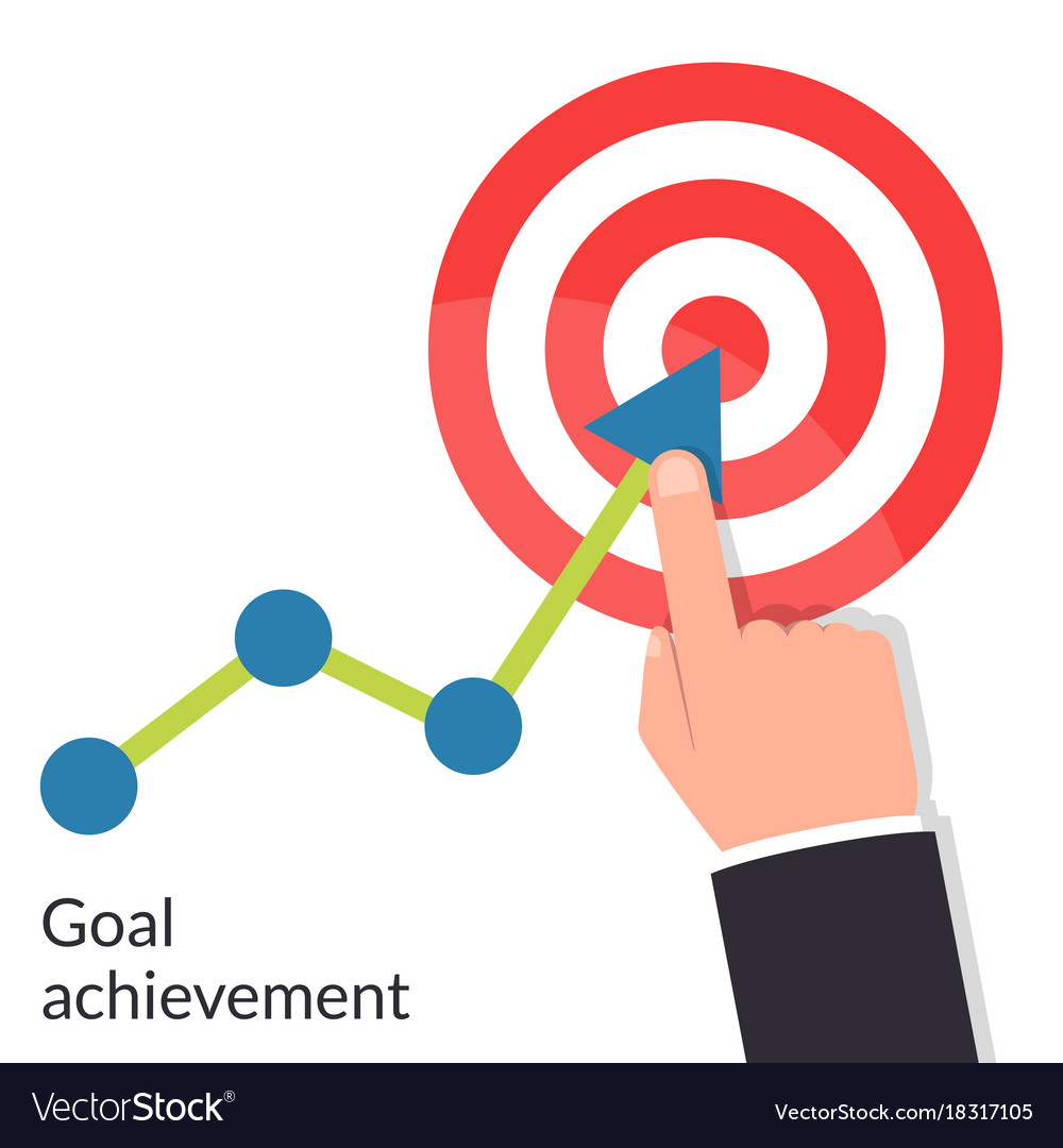 Goal achievement path chart to target successful vector image geenschuldenfo Images