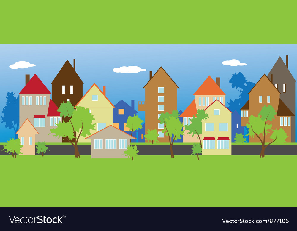 Street neighbors vector image