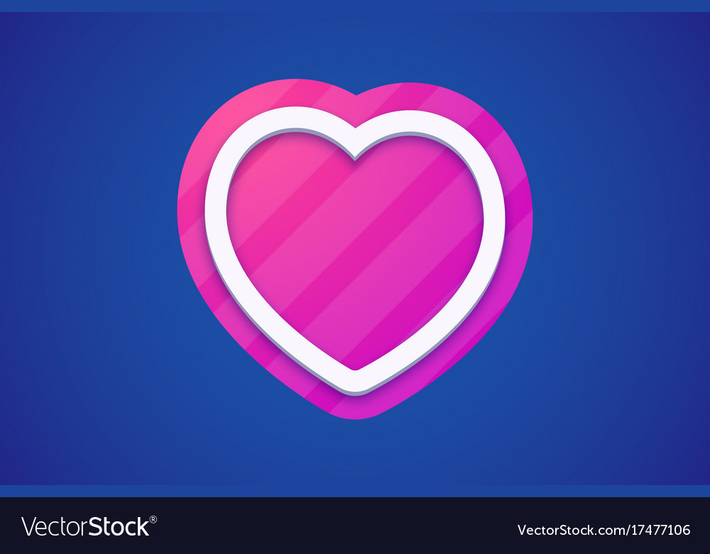 Colorful heart icon on dark background with color vector image