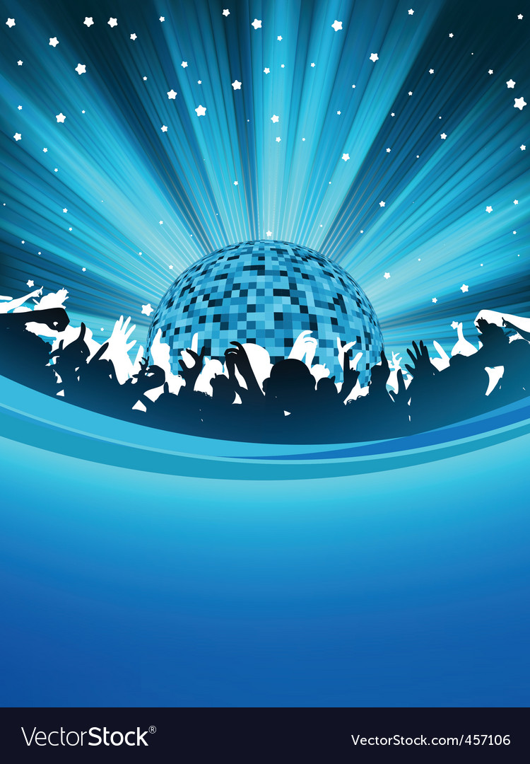Party poster with disco ball eps 8 Royalty Free Vector Image