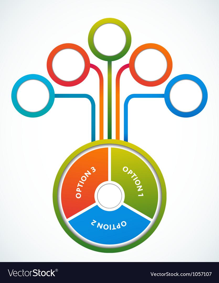 Multicolored presentation color circles template vector image