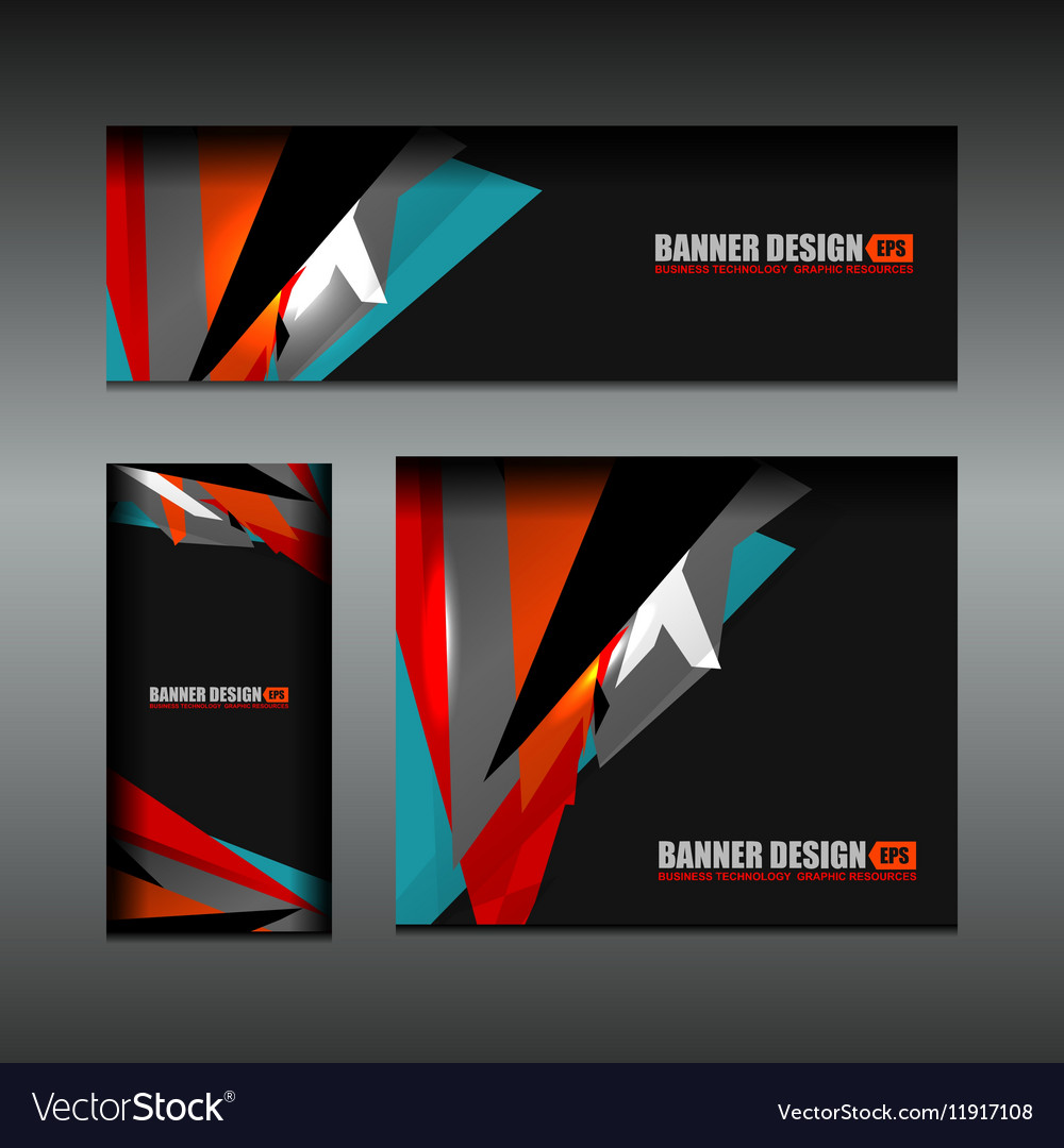 Business banner dark color design vector image