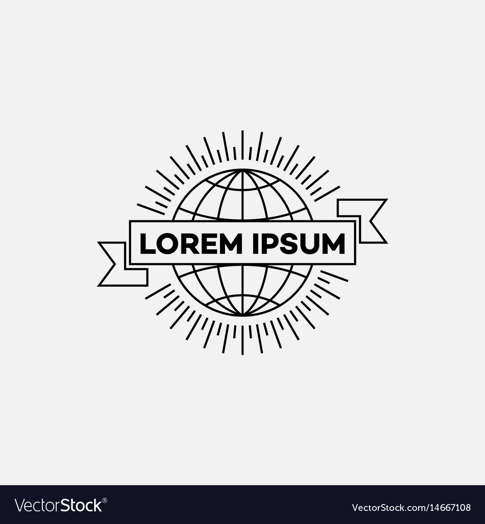 Logo in outline style vector image
