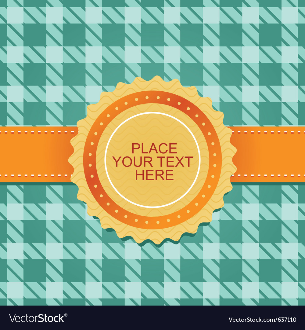 Cute background with ribbon vector image