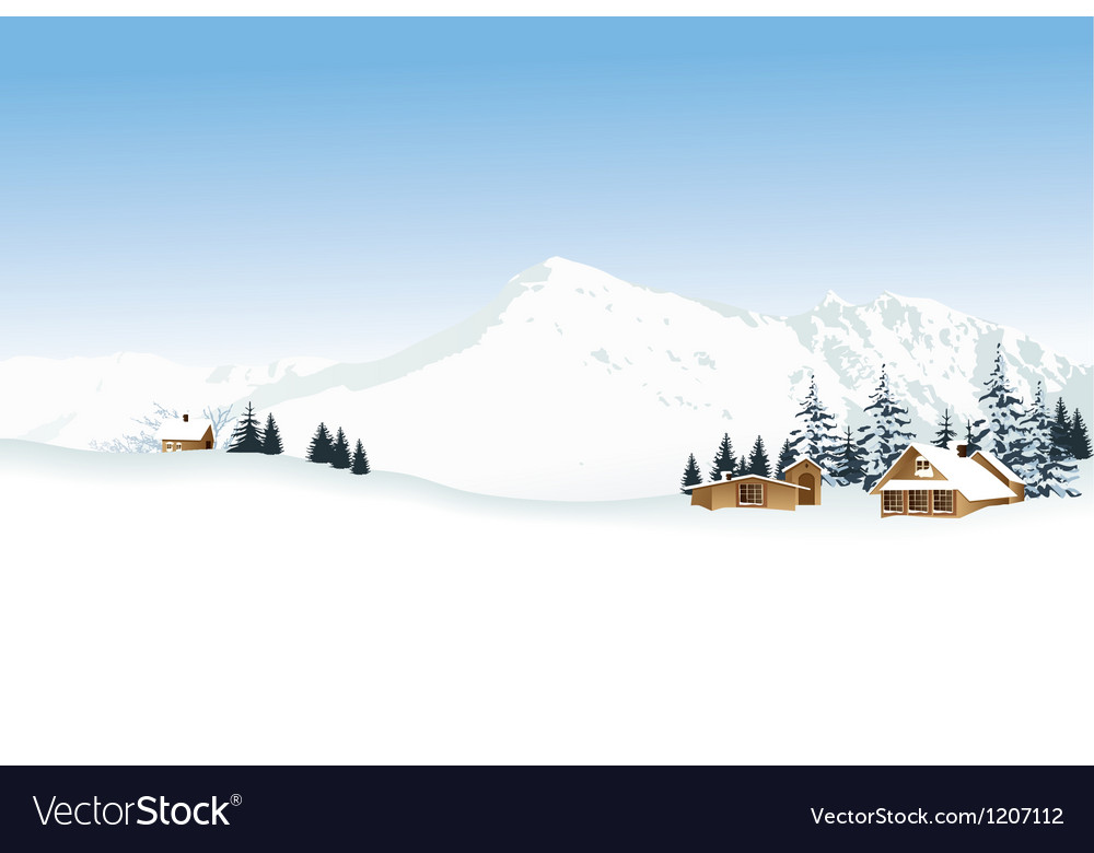 Winter mountains vector image
