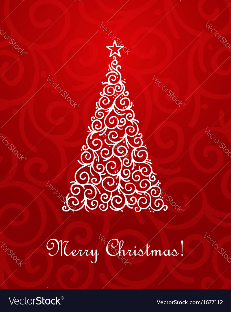 Chrristmas tree vector image