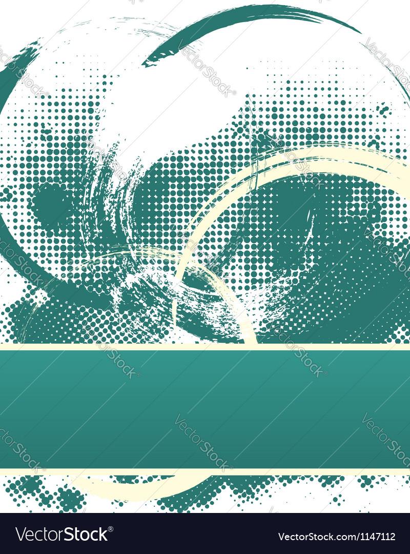 Dark Halftone Grunge Text Template vector image