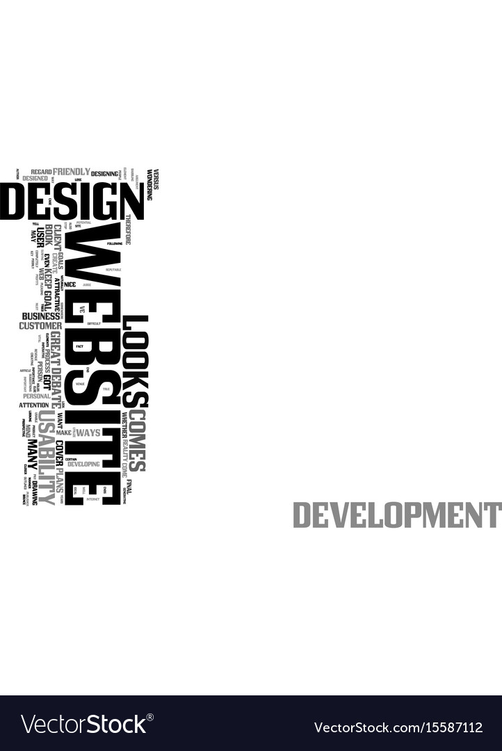 Your goals in web design is the key looks or vector image