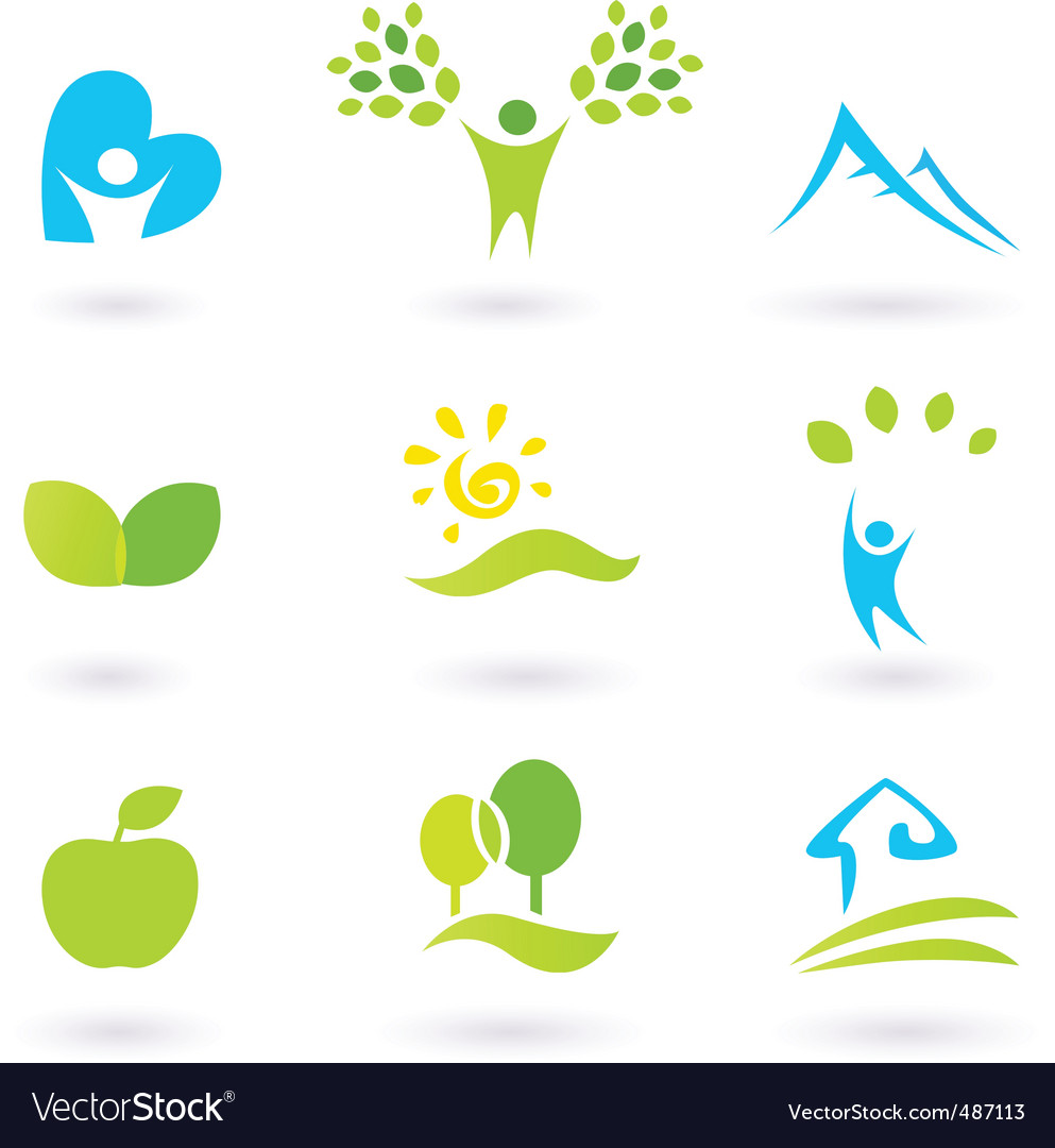 Andscape icons vector image