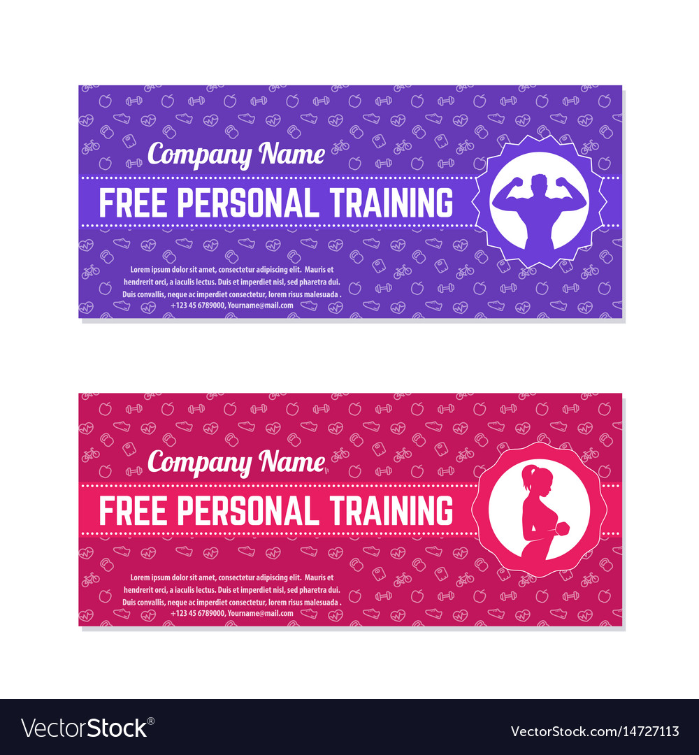 Free personal training gift voucher for gym vector image free personal training gift voucher for gym vector image 1betcityfo Images