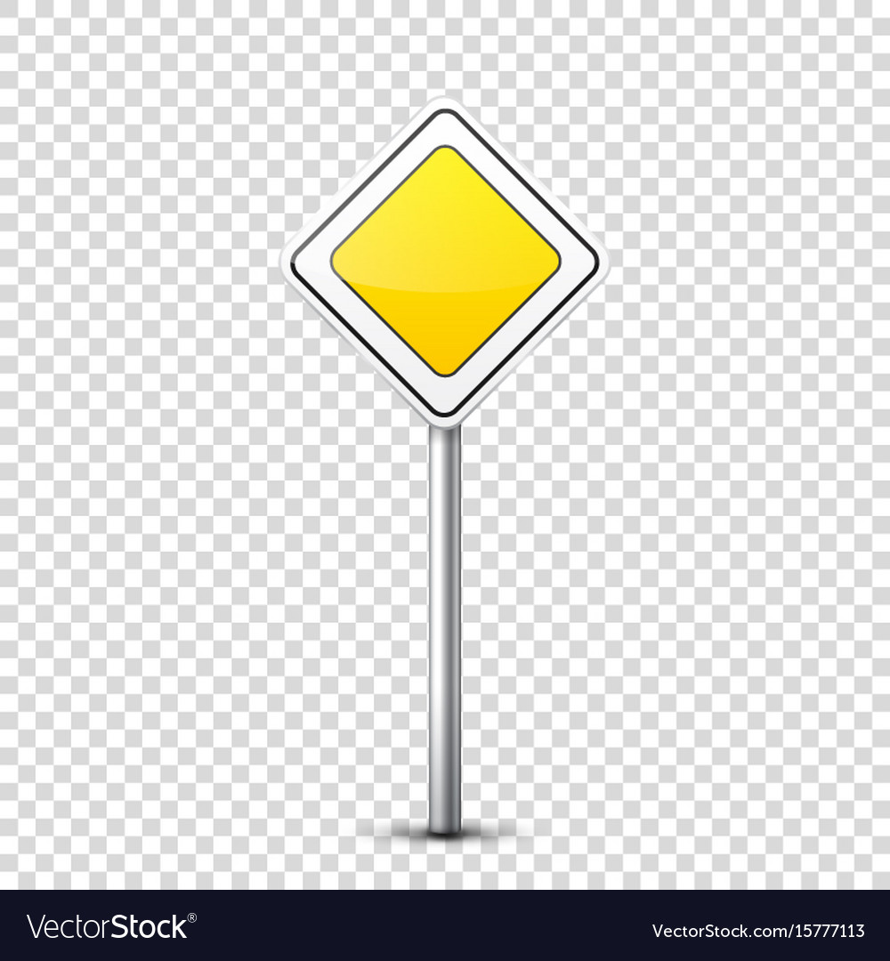 Road yellow signs collection isolated on vector image