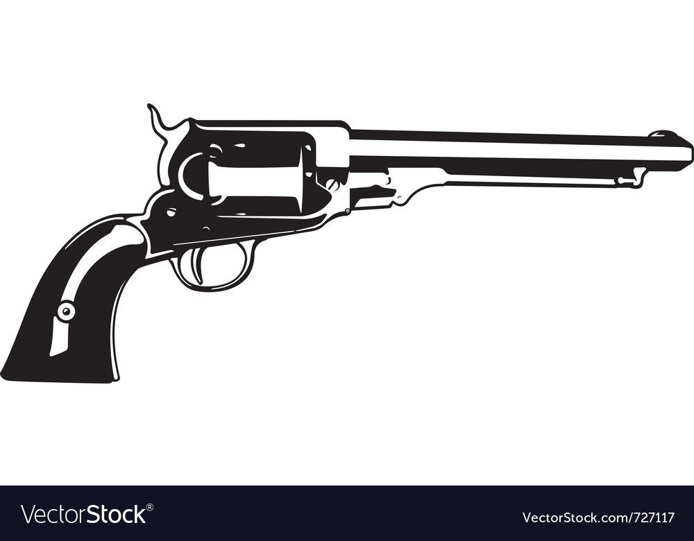 Old sidearm vector image