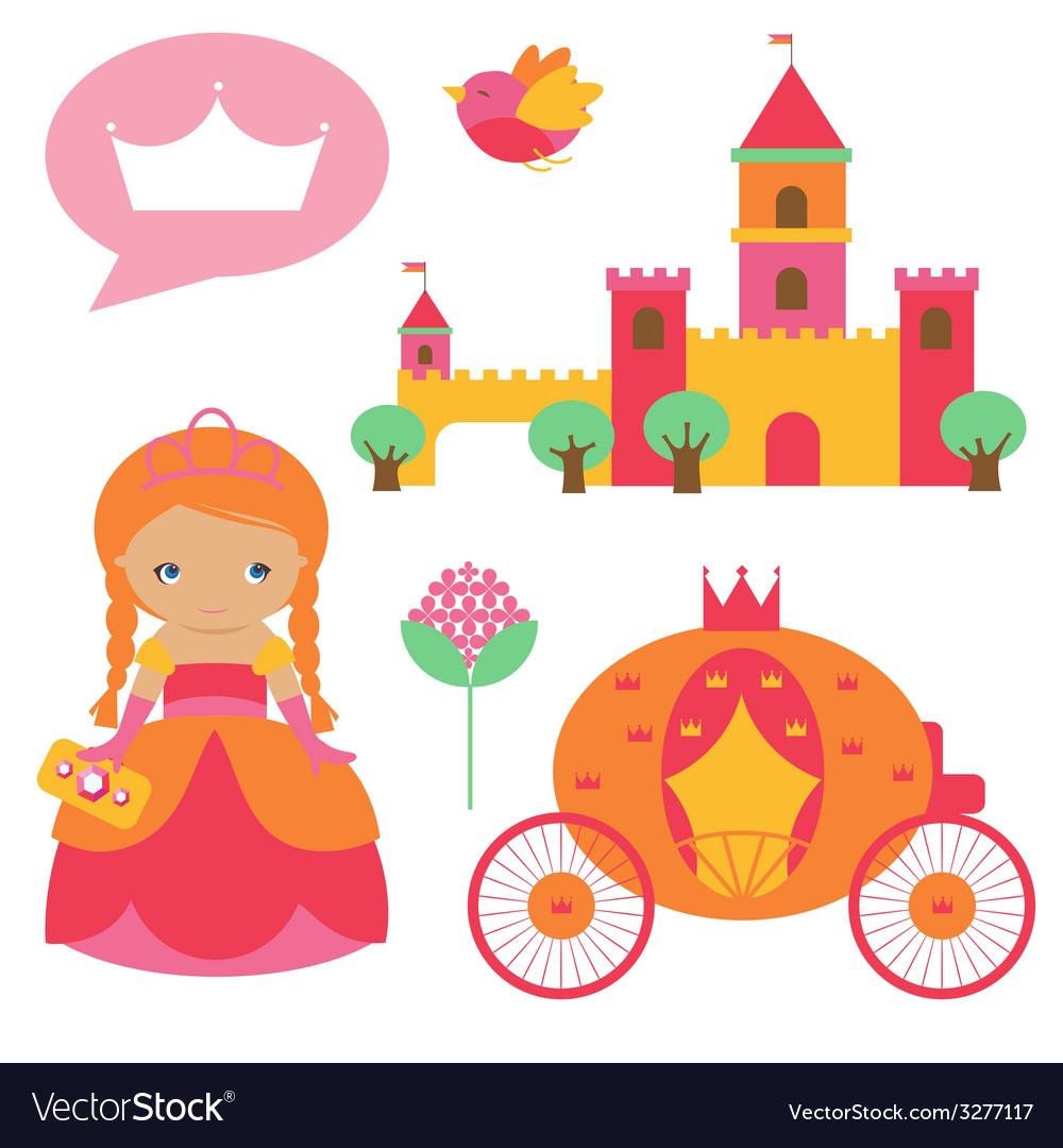Princess clip art vector image