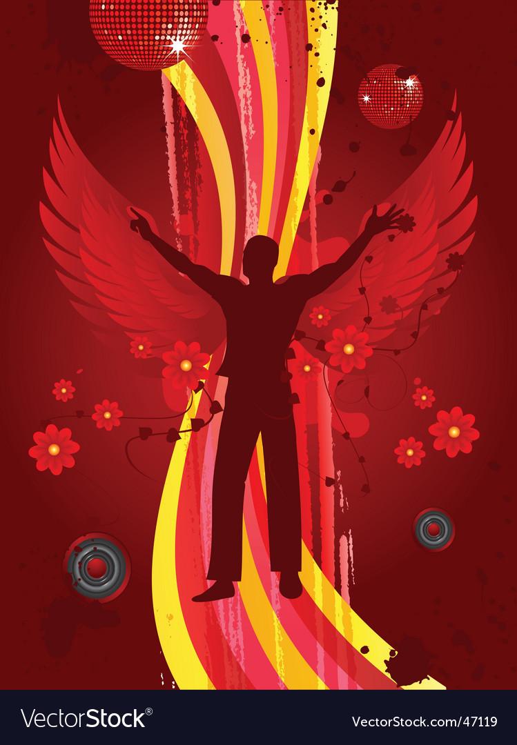 Angel of dance vector image