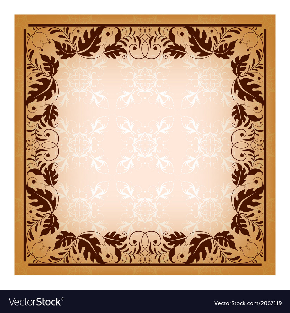Royal invitation with elegant damask frame vector image