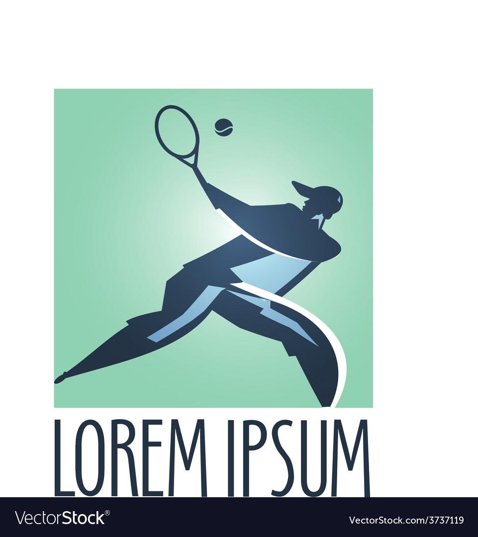 Tennis logo design template Tennis Court vector image