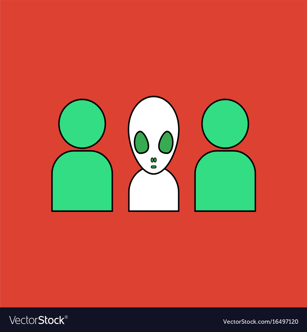 Black Alien icon on white