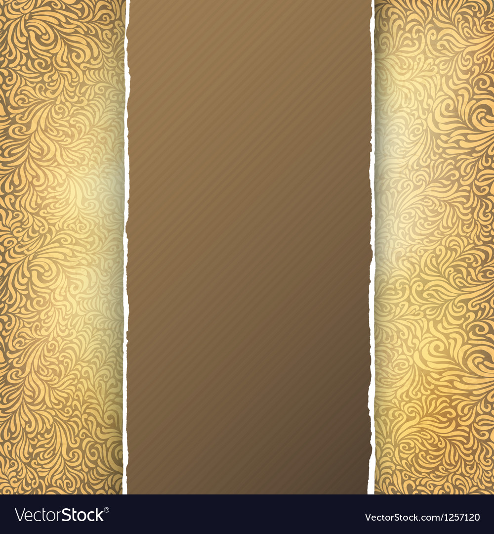 Golden menu template vector image