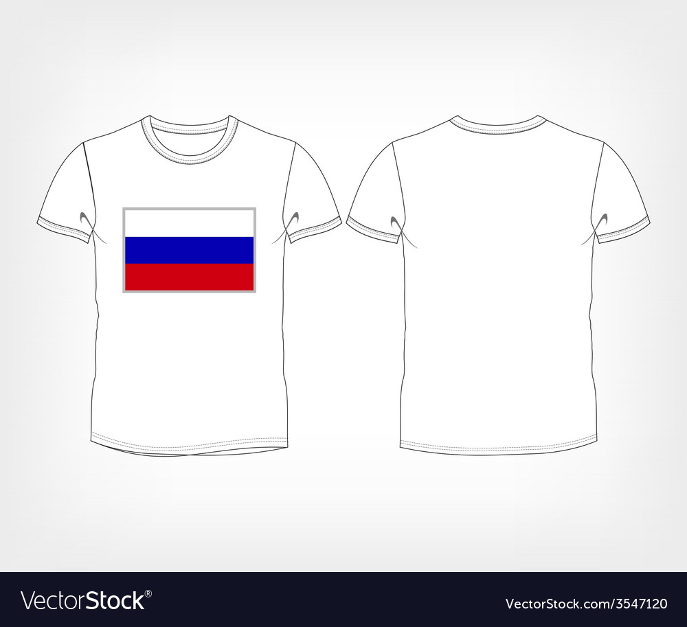 T-shirt with the flag of Russia vector image