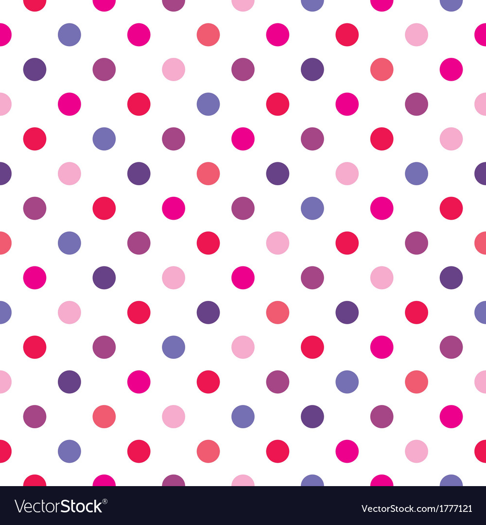 Colorful red polka dots seamless background vector image