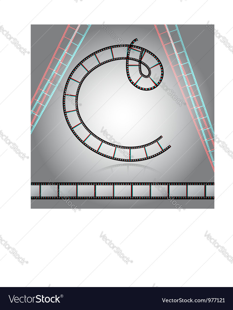Film tape alphabet letter vector image