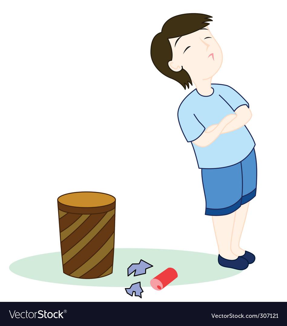 Rubbish cartoon vector image
