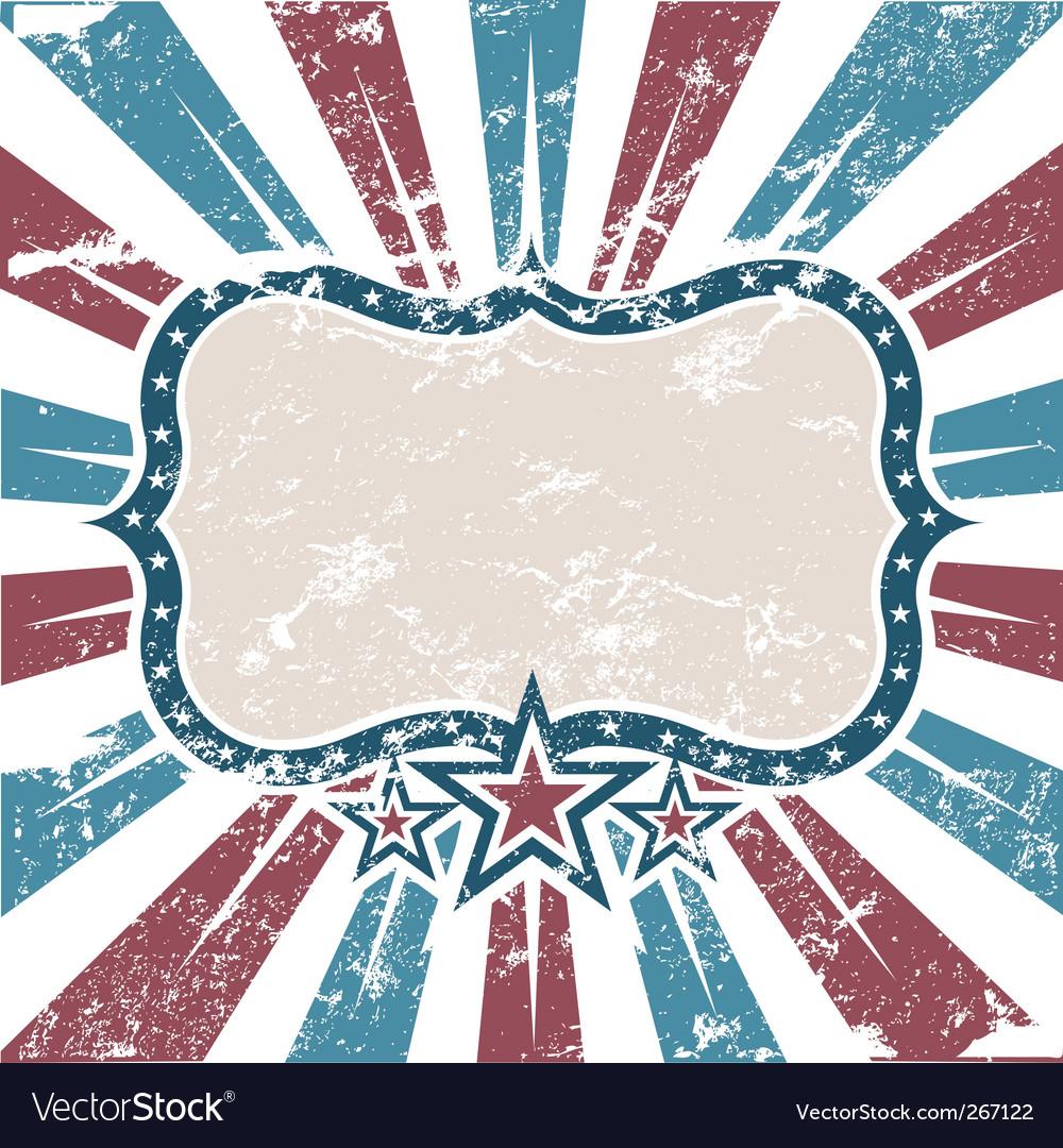 Figure frame USA colors grunge vector image