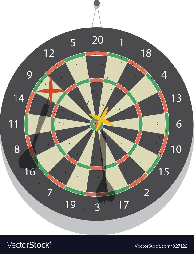 Dartboard Vector Image
