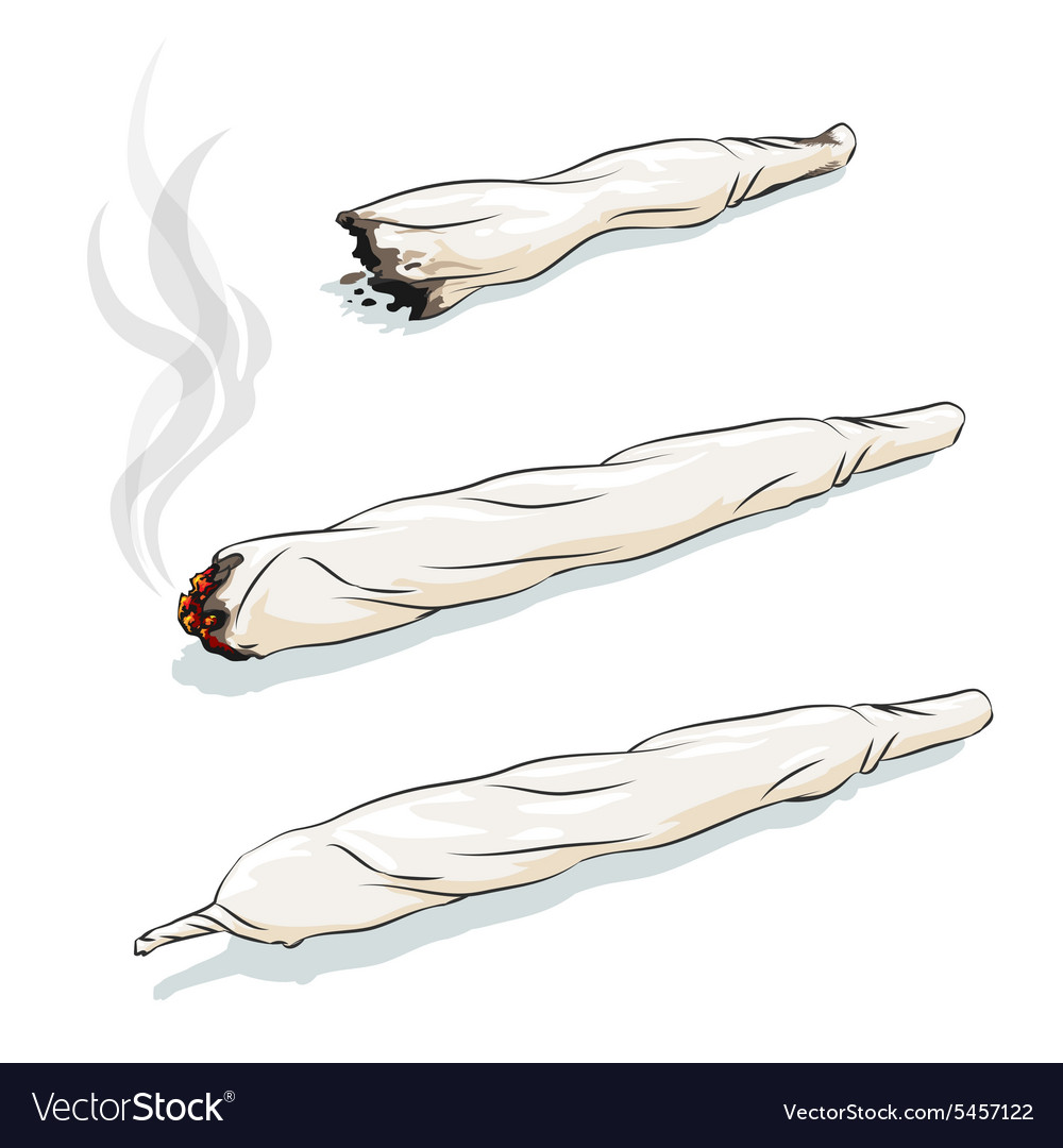 Joint or spliff vector image