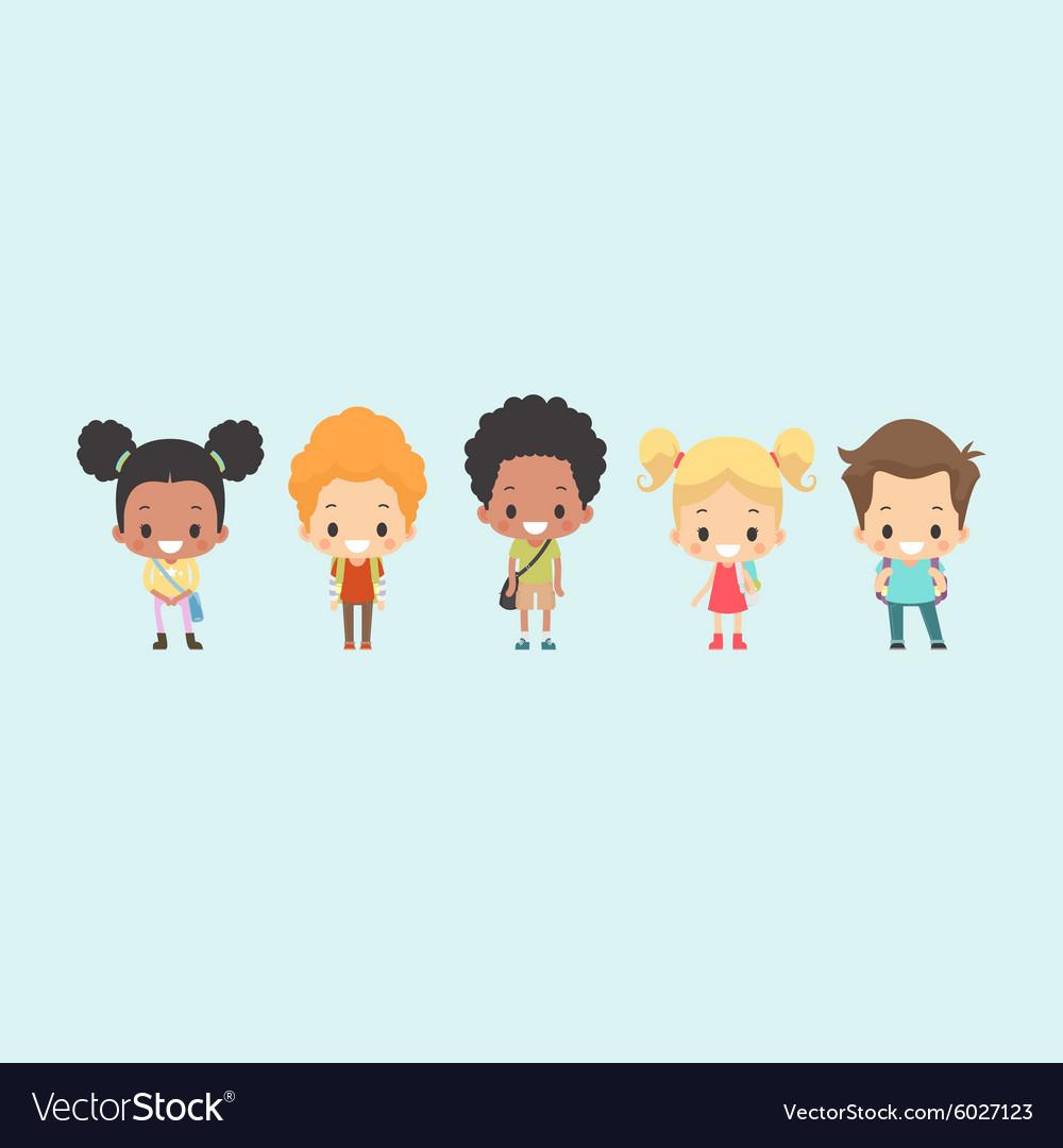 Kids School Bag vector image