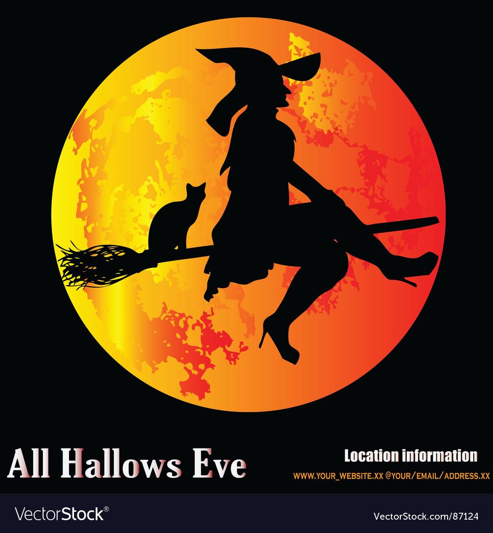Halloween moon Royalty Free Vector Image - VectorStock