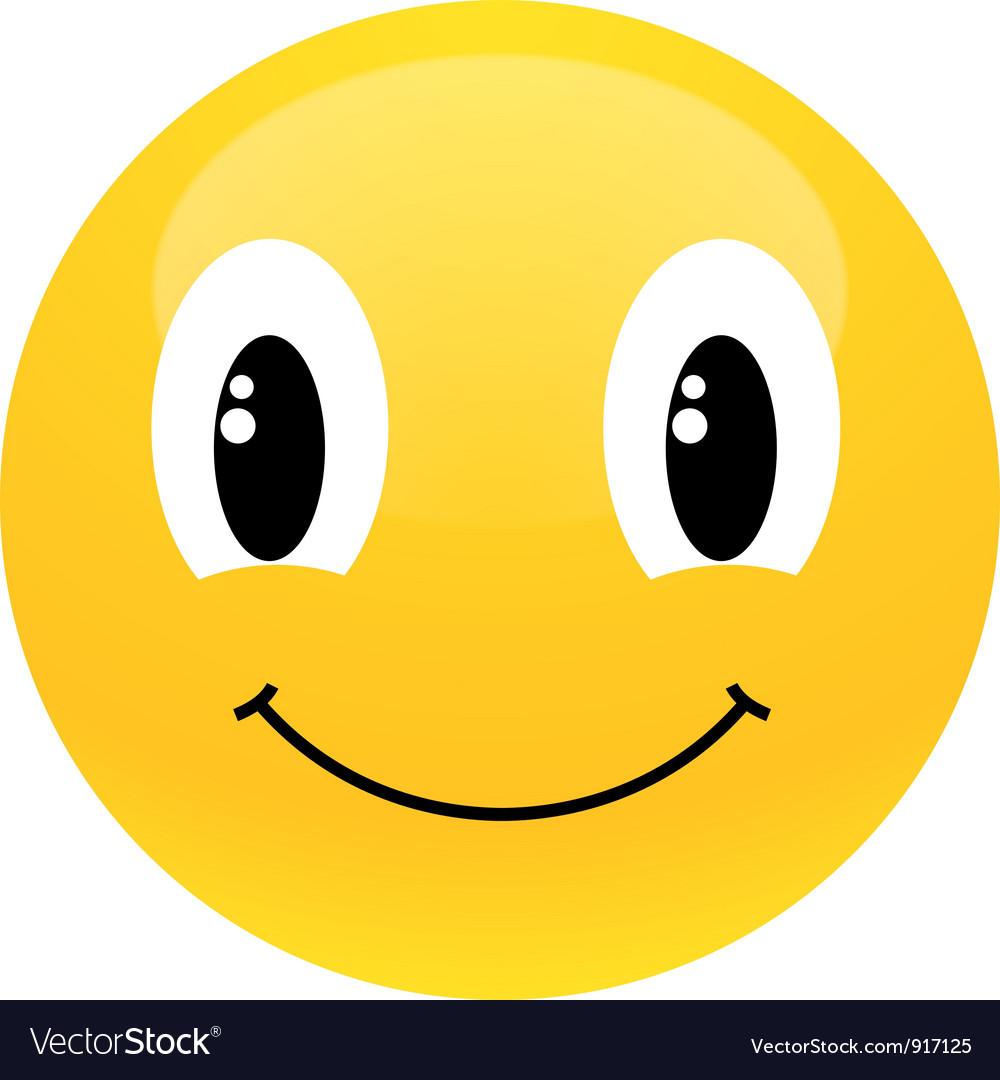 Yellow smiley Vector Image