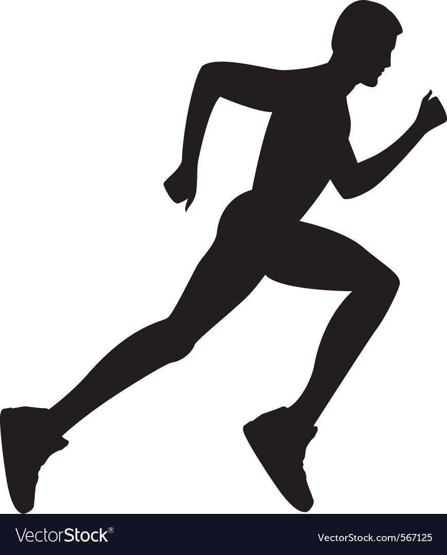 man running royalty free vector image vectorstock free running clipart images running girl clipart free